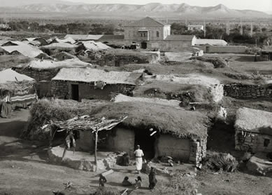 View of modern Jericho from the south, showing flat earthen roof. From The American Colony and Eric Matson Collection, vols 1-8. © 2009 Todd Bolen.