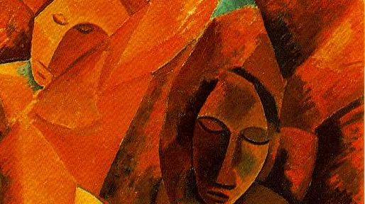 detail from Picassos Three women