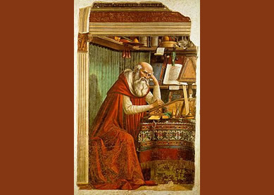Saint Jerome in His Study, 1480. Fresco, Church of Ognissanti, Florence, Italy.