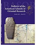 Bulletin of the American Schools of Oriental Research 338