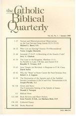 Catholic Biblical Quarterly 60