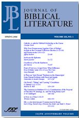 Journal of Biblical Literature