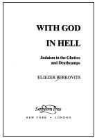 With God in Hell: Judaism in the Ghettos and Deathcamps