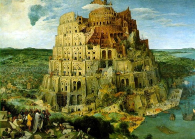 Pieter Brueghel the Elder, Tower of Babel, 1563. Oil on panel, Kuntshistorische Museum, Vienna, Austria.