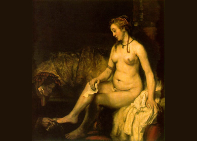 Rembrandt, Bathsheba at Her Bath, 1654. Oil on canvas, Musée du Louvre, Paris.