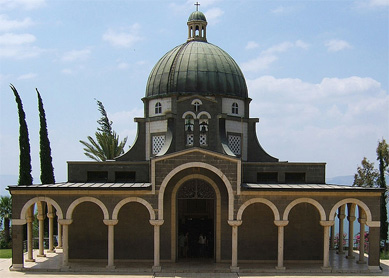 The Church of the Beatitudes, located on the northern coast of the Sea of Galilee in Israel, marks the traditional place where Jesus gave the Sermon on the Mount.