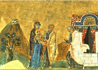 Circumcision of Christ from the Menologion of Basil II