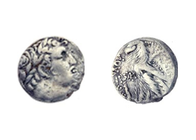 Silver coin used to pay the half-shekel tax to the Second Temple, according to the Israel Antiquities Authority.