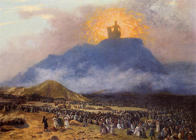 Jean-Léon Gérôme, Moses on Mount Sinai. Oil on canvas, 1895–1900.