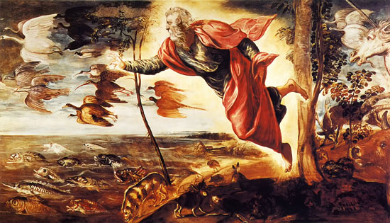 "Jacopo ""Il Tintoretto"" Robusti, Creation of the Animals, 1551–52."