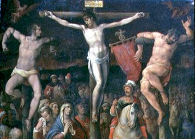Giovanni Stradano, Crucifixion, 1569. Oil on panel.