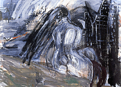 Anselm Kiefer, Dein Aschenes Haar Sulamith, 1981. Oil on canvas, private collection.