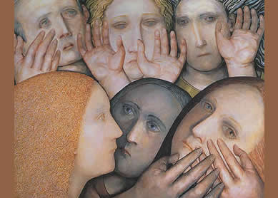 Evelyn Williams, Lament 2: Then the Trouble Came, 2004. Oil on canvas, Pembroke College Oxford Art Collection.