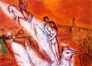 Marc Chagall, Song of Songs. Oil on canvas, 1974.