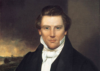 Portrait of Joseph Smith (artist unknown). Oil on canvas, purported to date to 1842. Community of Christ archives, Independence, Missouri. Width: