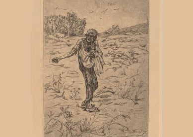 Félicien Rops, The Parable of the Sower (Le Semeur de Paraboles), 1876.