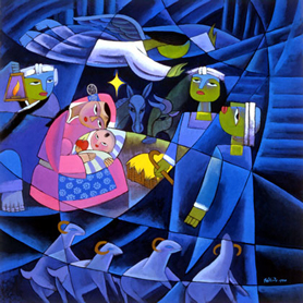He Qi, The Nativity,  undated 21st century.