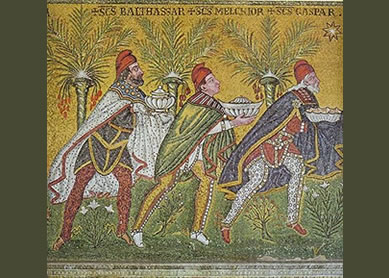 Ravenna mosaic of the gifts of the magi