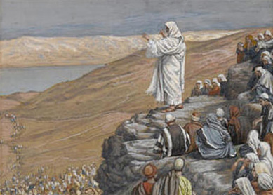 James Tissot, The Sermon on the Mount. Gouache on paper, circa 1886.