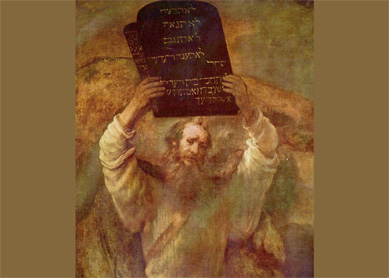 Rembrandt, Moses with the Tablets of the Law. Oil on canvas, 1659.