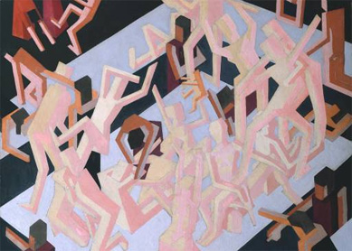David Bomberg, Vision of Ezekiel, 1912.