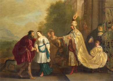 Isaac Isaacsz, Pharaoh Returns Sarah to Abraham (Abimelech, King of Gerar, Restores Sarah to Abraham), 1640. Oil on canvas, Rijksmuseum, Amsterdam.