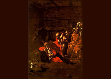 Caravaggio, Adoration of the Shepherds, 1609.