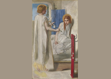 Rossetti, Ecce Ancilla Domini! (The Annunciation), 1849–50.