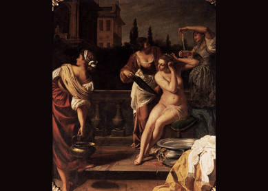 Artemisia Gentileschi, Bathsheba, first half of the 17th century.