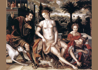Jan Massys, David and Bathsheba, 1562.