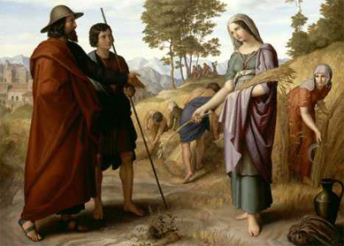Julius Schnorr von Carolsfeld, Ruth in Boaz' Field. Oil on canvas, 1828. National Gallery, Washington.