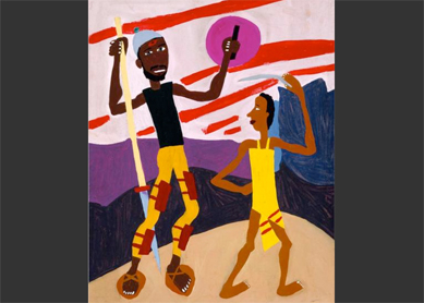 William H. Johnson, David and Goliath, 1944.
