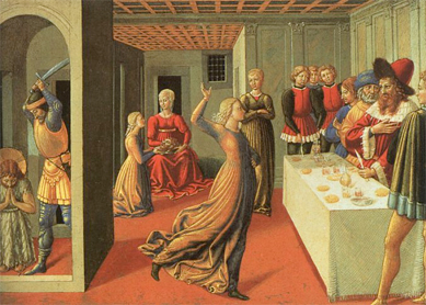 Benozzo Gozzoli, The Feast of Herod and the Beheading of John the Baptist, 1461–62. Tempera (?) on panel, National Gallery of Art, Washington, D.C.