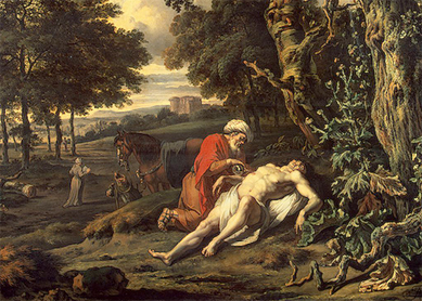 Jan Wijnants, Parable of the Good Samaritan. Oil on canvas, 1670.