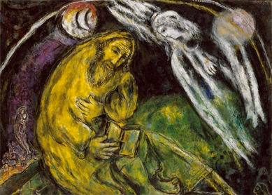 Marc Chagall, The Prophet Jeremiah. Oil on canvas, 1968. Musée national Message Biblique Marc Chagall, Nice, France.