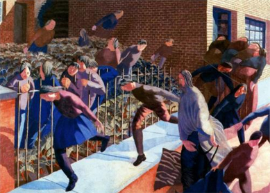 Stanley Spencer, Christ's Entry into Jerusalem. Oil on canvas, 1920.