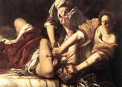 Artemisia Gentileschi, Judith Beheading Holofernes. Oil on canvas, circa 1614–1620.