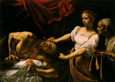 Caravaggio, Judith Beheading Holofernes. Oil on canvas, circa 1597.