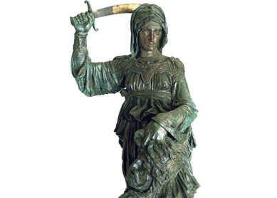 Donatello, Judith and Holofernes. Bronze, 1455–1460.