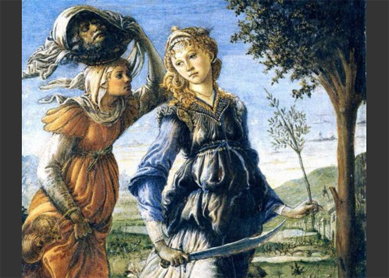 Botticelli, The Return of Judith, 1470. Tempera on wood, Galleria degli Uffizi, Florence, Italy.
