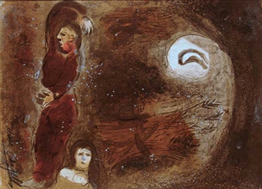 Marc Chagall, Ruth Lying at Boaz