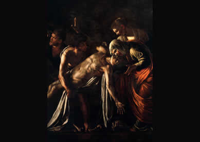 Caravaggio, The Raising of Lazarus, 1608-09.