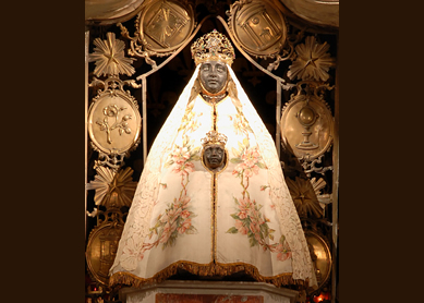 Black Madonna, 17th century. Cathedral of Notre Dame du Puy, France.