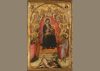 Paolo di Giovanni Fei, Madonna and Child Enthroned, circa 1385–90.