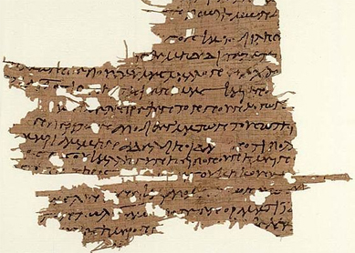 A fragment of the Gospel of Mary, discovered in 1896. Ashmolean Museum, Oxford.