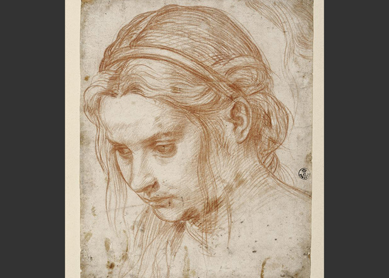 Andrea del Sarto, Study for the Head of Mary Magdalene, 1524 to 1528.