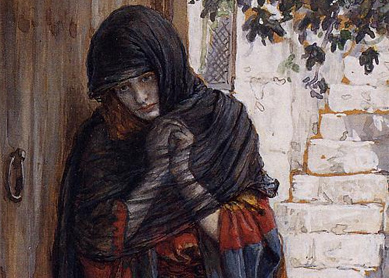 James Tissot, The Repentant Magdalene. Watercolor on paper, late 19th century. Brooklyn Museum, Brooklyn, New York.