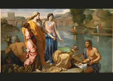 Nicolas Poussin, The Finding of Moses, 1638.