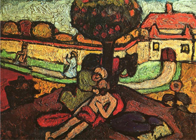 Paula Modersohn-Becker, The Good Samaritan. Oil and tempera on canvas, 1907.