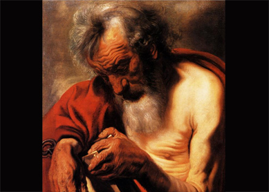 Jacob Jordaens, Saint Peter. Oil on canvas, early 17th century. Alte Pinakothek, Munich, Germany.